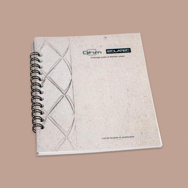 Carnet perpetuel papier mineral