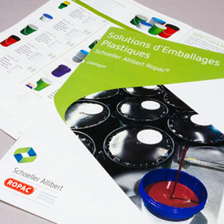 Brochure commercial papier mineral